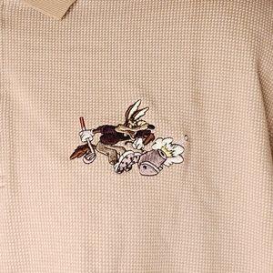 Vintage Warner Bros Wile E Coyote Polo Golf Shirt